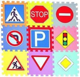 Фото Мягкий коврик-пазл Дорожные знаки