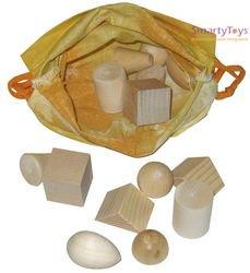 Деревянная игрушка Волшебный мешочек Геометрические тела (Д-106) фотография 3