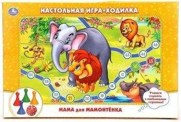 Фото Настольная игра-ходилка Приключения мамонтенка