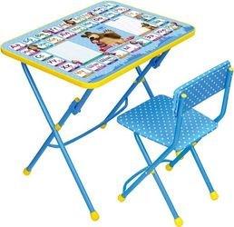 Фото Комплект детской мебели стол и стул мягкий Азбука 2 Маша и Медведь (КУ1/2)
