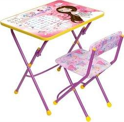 Фото Комплект детской мебели стол и стул мягкий Маленькая принцесса (сиреневый) (КУ1/17)