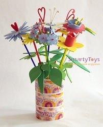Набор для детского творчества Собери букет цветов (9 шт. в коробке) фотография 2