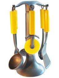 Фото Игровой набор Кухонные приборы на подставке в сетке (У543)