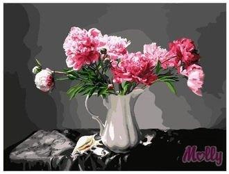 Фото Картина по номерам Бело-розовые пионы 40х50 (GX7576)