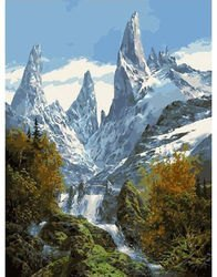 Фото Картина по номерам Снежные вершины 40х50 (GX7365)