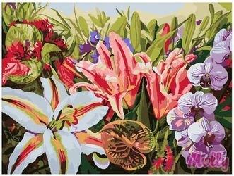 Фото Картина по номерам Цветочное изобилие 40х50 (GX7283)