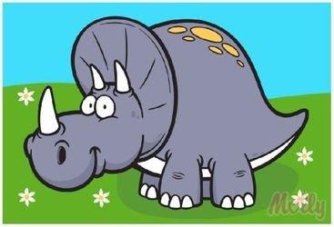 Фото Раскраска по номерам Динозавр Ярик 20х30 см (CX3116)