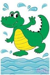 Фото Раскраска по номерам Крокодил Тошка 20х30 см (CX3115)