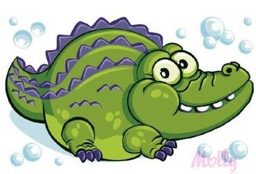 Фото Раскраска по номерам Крокодил-мечтатель 20х30 см (CX3114)
