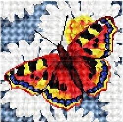 Фото Картина стразами Бабочка 30х30 см (DL009)