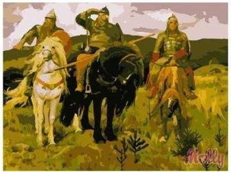 Фото Картина по номерам Васнецов. Три богатыря 40х50 (GX6949)