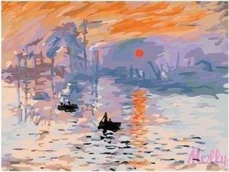 Фото Картина по номерам Моне. Восходящее солнце 40х50 (G252)