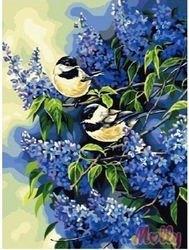 Фото Картина по номерам Голубая сирень 40х50 (G162)