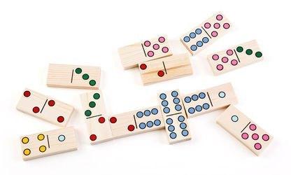 Домино детское деревянное Точки фотография 3
