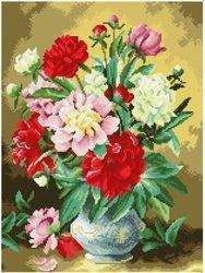 Фото Мозаичная картина Летние пионы 40х50 см (GZ144)