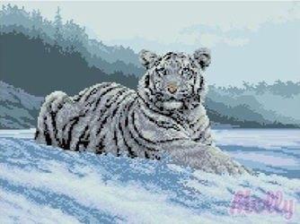 Фото Мозаичная картина В снегу 40х50 см (GZ084)