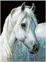 Фото Мозаичная картина Белоснежка 40х50 см (GZ069)