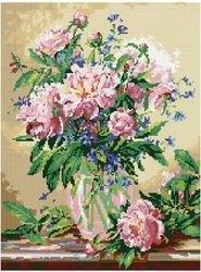 Фото Мозаичная картина Пионы 40х50 см (GZ040)