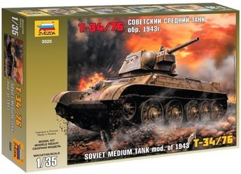 """Фото Сборная модель Советский средний танк """"Т34/76"""" (образец 1943 г.) (3525)"""