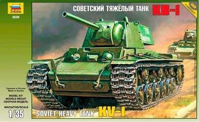 """Фото Сборная модель Советский тяжелый танк """"КВ-1"""" (3539)"""