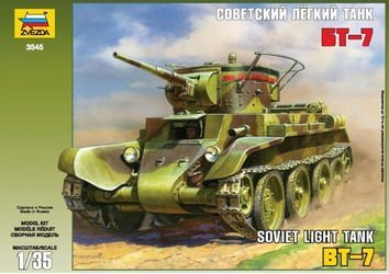 """Фото Сборная модель Советский лёгкий танк """"БТ-7"""" (3545)"""