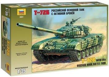 Фото Сборная модель Российский основной танк с активной броней Т-72Б (3551)
