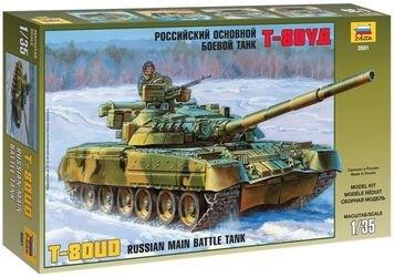 Фото Сборная модель Российский основной боевой танк Т-80УД (3591)