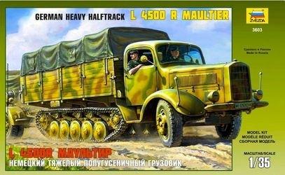 Фото Сборная модель Немецкий тяжелый полугусеничный грузовик L 4500R Маультир (3603)