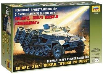 """Фото Сборная модель Немецкий бронетранспортер с пусковыми установками Sd.Kfz.251/1 Ausf.B """"Ханомаг"""" (3625)"""