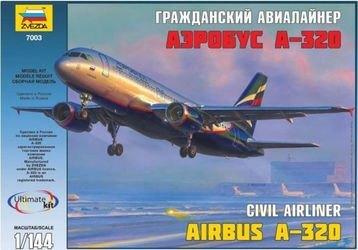 Фото Сборная модель Гражданский авиалайнер Аэробус А-320 (7003)