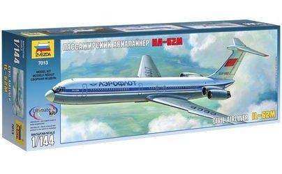 Фото Сборная модель Советский пассажирский авиалайнер Ил-62М (7013)