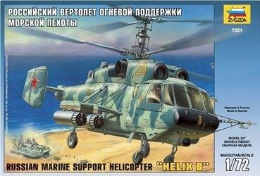 Фото Сборная модель Российский вертолет огневой поддержки морской пехоты Ка-29 (7221)