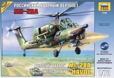 Фото Сборная модель Российский ударный вертолёт Ми-28А (7246)
