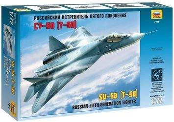 Фото Сборная модель самолета Российский истребитель пятого поколения Су-50 (Т-50) (7275)