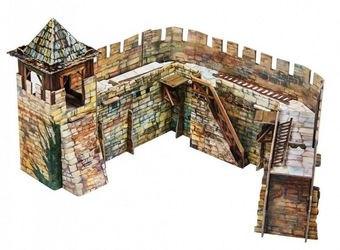 Фото Сборная модель из картона Крепостная стена (286)