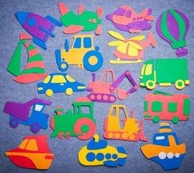 Фото Игра из ковролина на липучках Транспорт