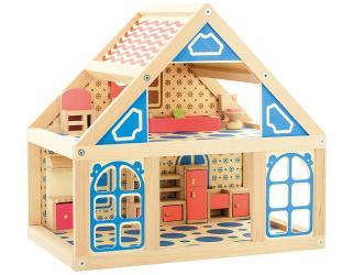 Фото Кукольный дом 1 деревянный (Д225)