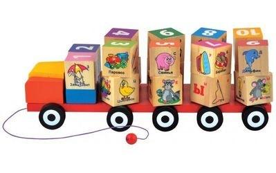 Фото ИгрушечныйАвтомобиль с Кубиками с алфавитом (Д249)