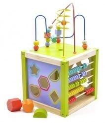 Фото Деревянная развивающая игрушка Универсальный куб (Д260)