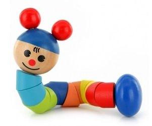 Фото Деревянная игрушка Гусеница (Д315)