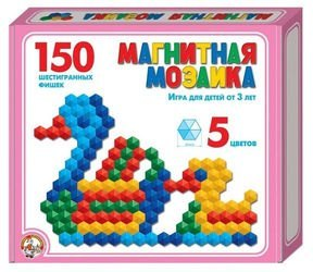 Фото Мозаика магнитная шестигранная без поля 150 шт, 20 мм (00960)