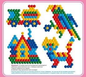 Мозаика магнитная шестигранная без поля 150 шт, 20 мм (00960) фотография 2