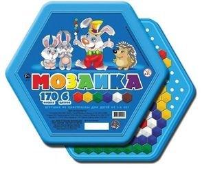 Фото Мозаика для детей шестигранная 170 фишек, 6 цветов (00958)