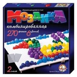 Фото Мозаика для детей  пластмассовая 270 фишек, 20,15,10 мм (02002)