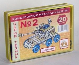 Фото Конструктор металлический цветной Самоделкин Техник №2 (20 моделей)