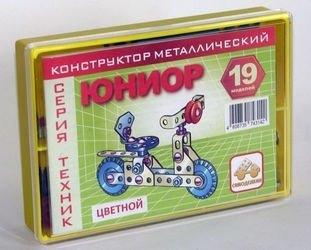 Фото Конструктор металлический цветной Самоделкин Юниор (19 моделей)