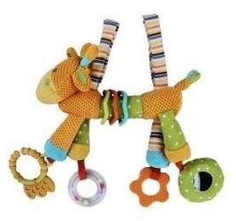 Фото Развивающая игрушка Подвеска Веселый зоопарк, погремушка, зеркальце, прорезыватель (93837)