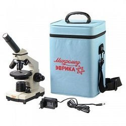 Фото Микроскоп школьный Эврика 40х-1280х в текстильном кейсе