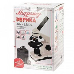 Микроскоп школьный Эврика 40х-1280х в текстильном кейсе фотография 11