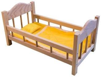 Фото Кроватка для кукол деревянная №14